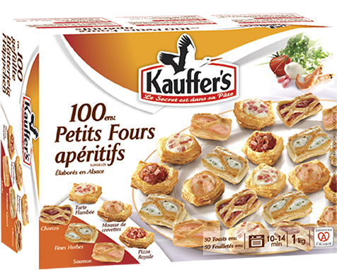 Boîte de 100 petits fours apéritifs Kauffer's