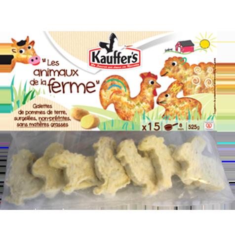 Kartoffel-Rösti in Tierform, für Kinder, tiefgefroren, Kauffer's