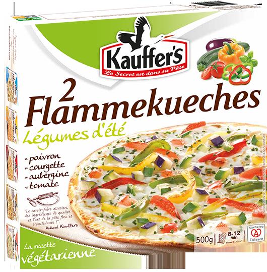 Flammkuchen mit Gemüse, Paprika, Zucchini, Tiefgefroren, Kauffer's