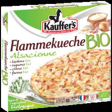 Boîte d'une Flammekueche Bio alsacienne Kauffer's