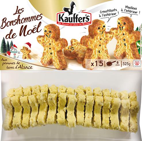 Sachet de 15 de galettes de pommes de terre en forme de Bonshommes de noël